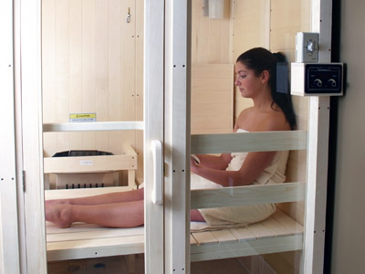 Sitting in Heavenly Heat Saunas